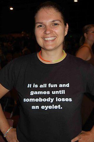 Eyelet-shirt