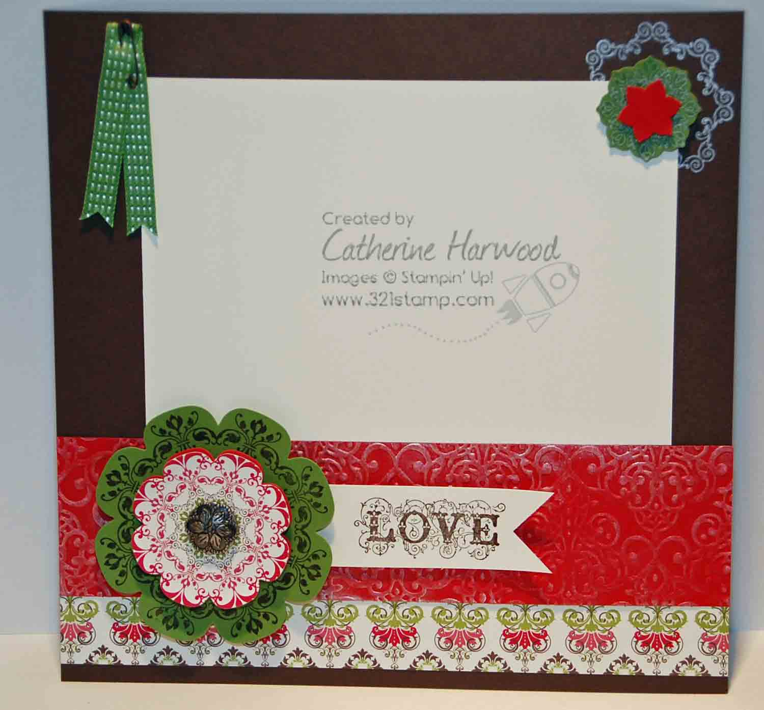 321 Stamp Launching Creativity Love This Scrapbook Page