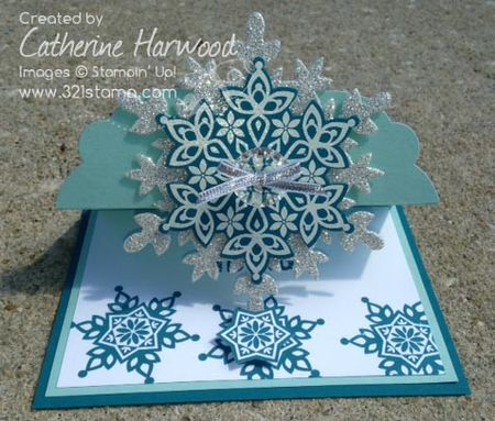Snowflake-card-standing